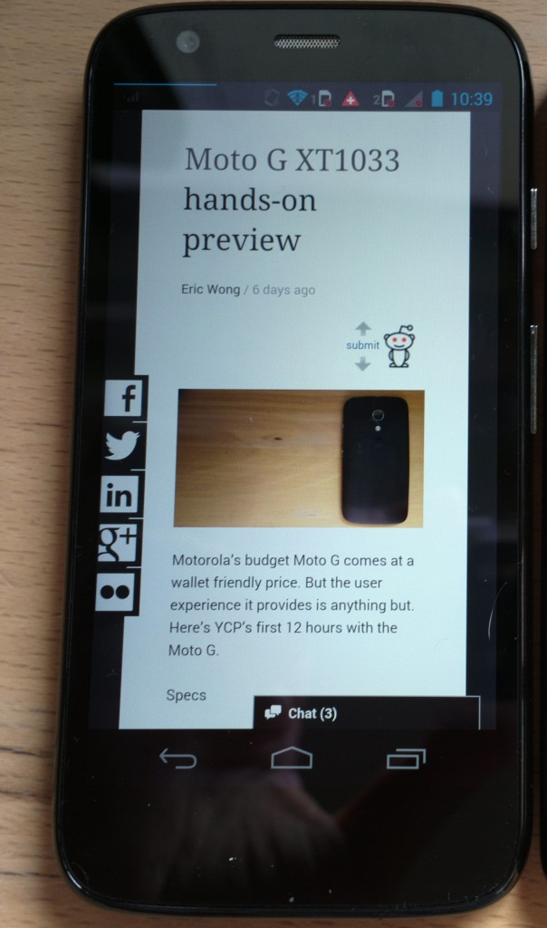 moto g review bezel ycp