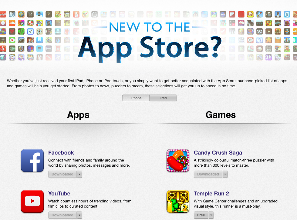 apple appstore editorial section sample