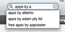 apple appstore search apps by apple