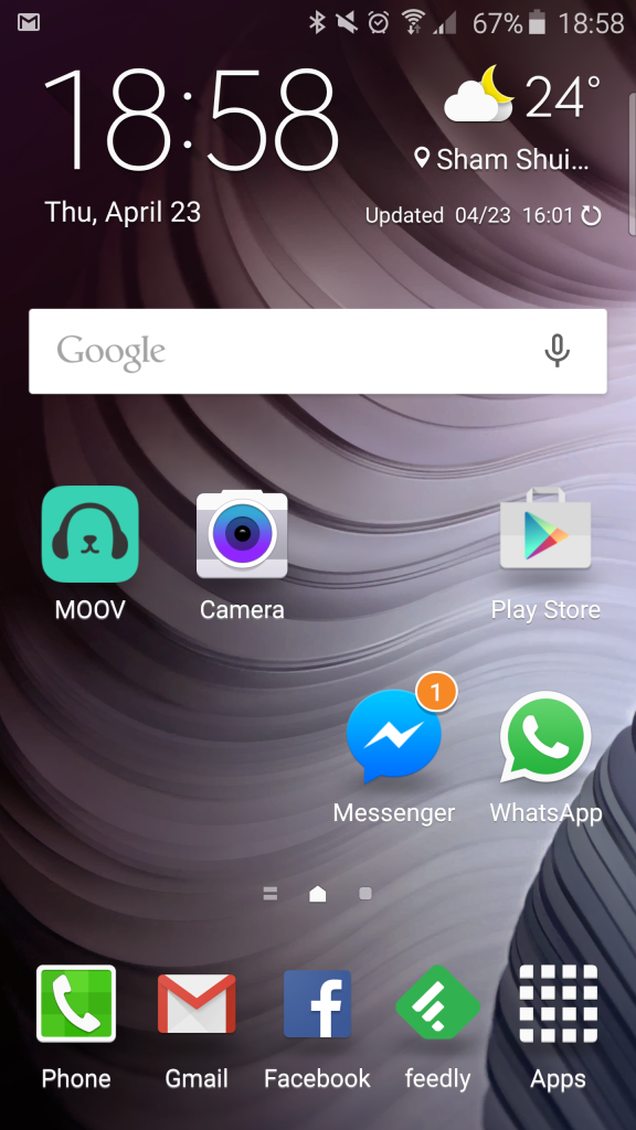 s6 edge touchwiz homescreen
