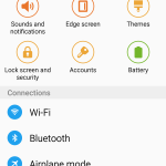 settings page quick settings